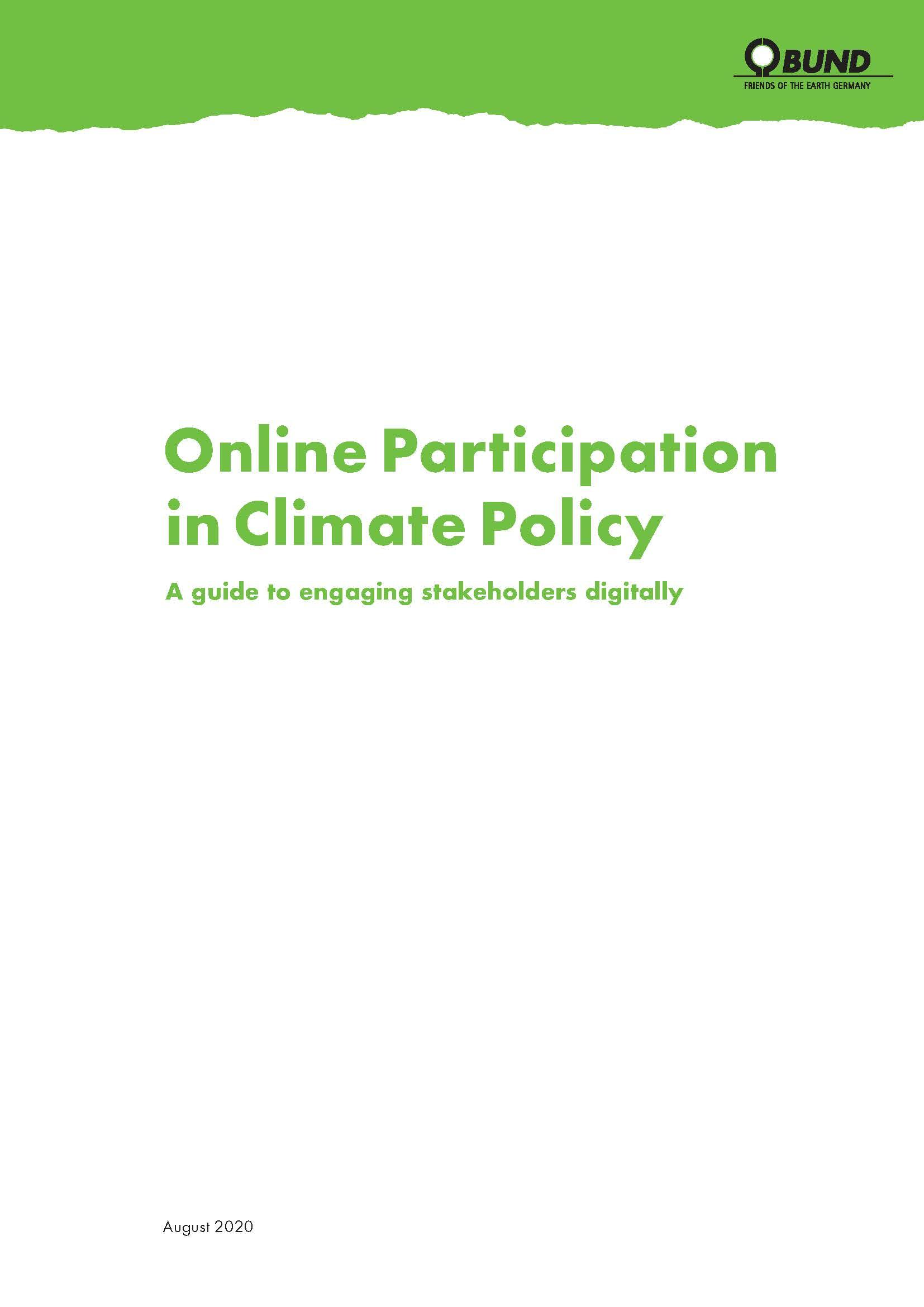 Online Participation in Climate Policy